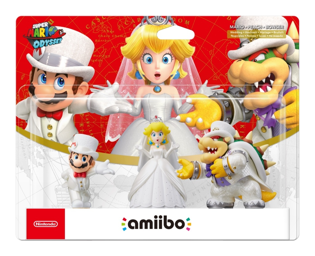 Amiibo Super Mario Odyssey Mario Bowser Princess  Peach (3 pack)
