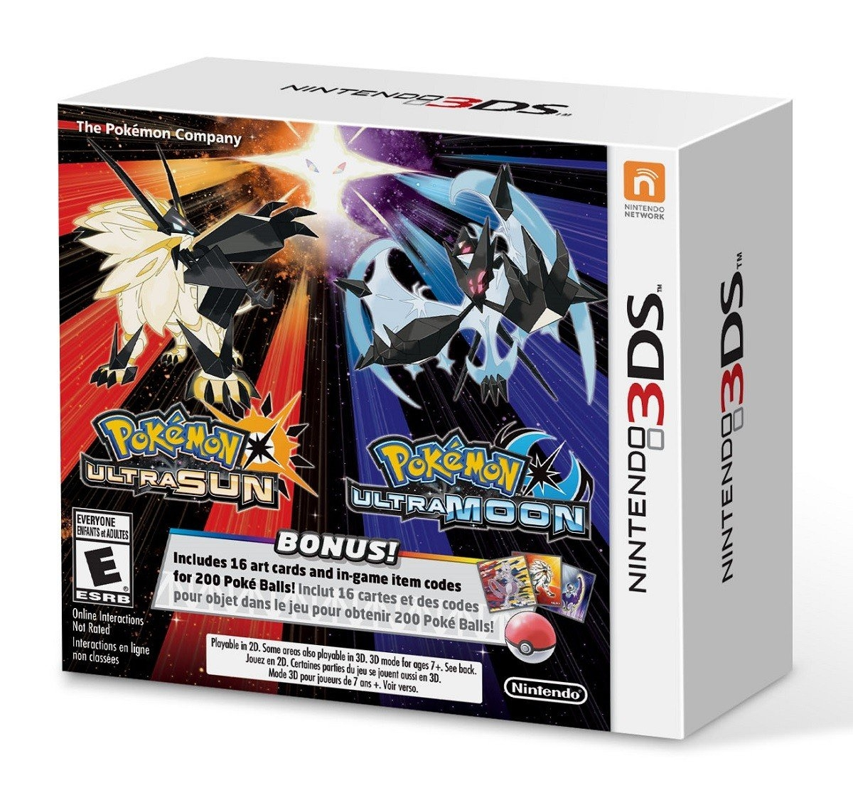 Pokemon Ultra Sun and Moon Steelbook Edition Dual  Pack /3DS