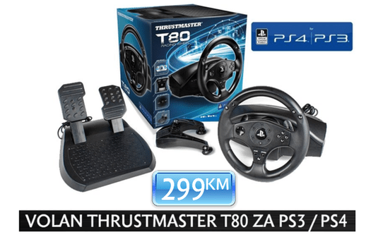 Thrustmaster - Volan T80 Wheel PS3/PS4