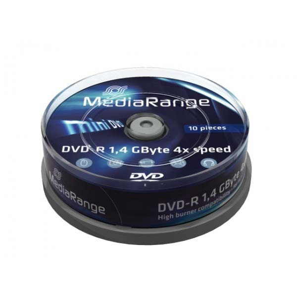 MediaRange Mini DVD-R 1.4GB 10KOM